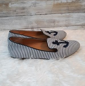 J. Crew addie loafers anchor shoes sz 6.5